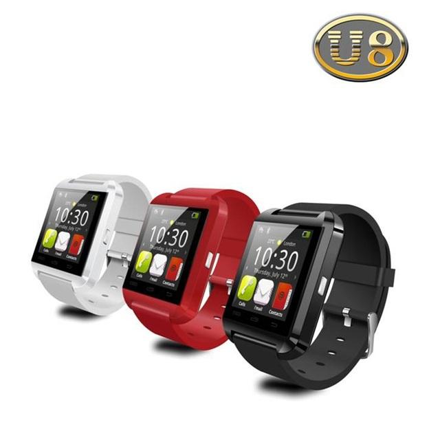 Bluetooth Watch U8 Смарт Наручные часы Smartwatch цифровые спортивные часы для Apple, IOS Android телефон Переносной Электронный