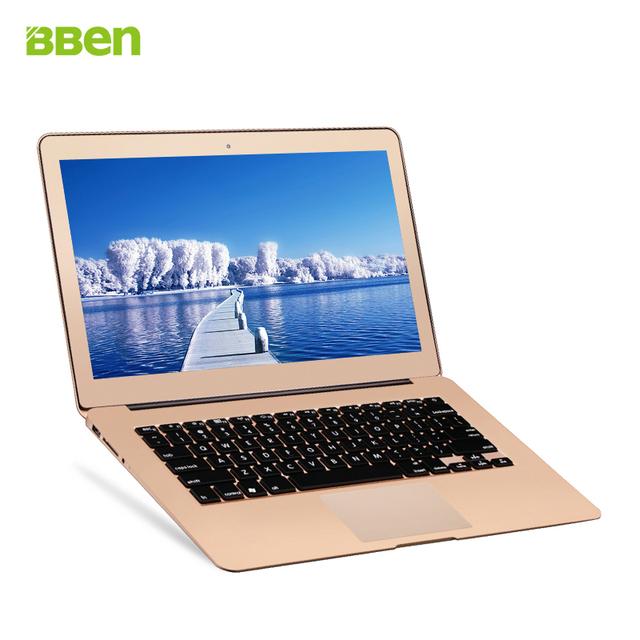 Bben Intel i7 Ультратонкий Двухъядерный 5500U 2.0 ГГц 13.3 Дюймов HD экран Ноутбука 4 ГБ DDR3 256 ГБ SSD Ноутбук Windows 10 Игровой Компьютер