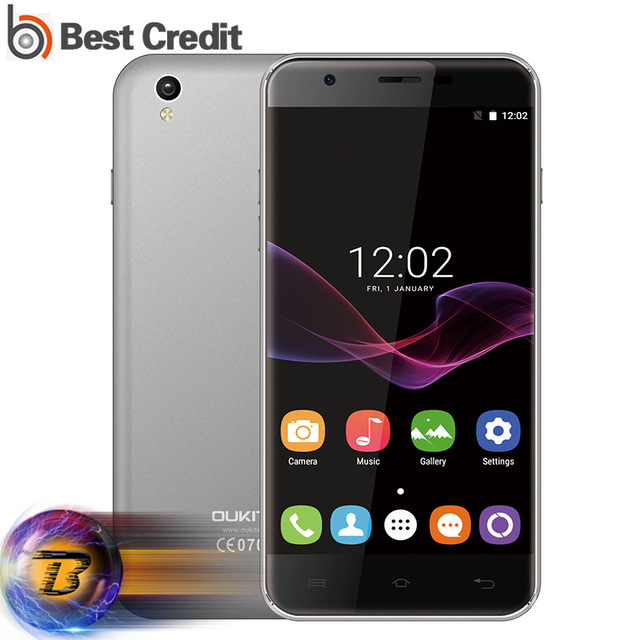 Original Oukitel U7 MAX 5.5 Inch HD Mobile Phone Android 6.0 MTK6580A Quad Core 1GB+8GB 8MP Camera 3G WCDMA Dual SIM Smartphone