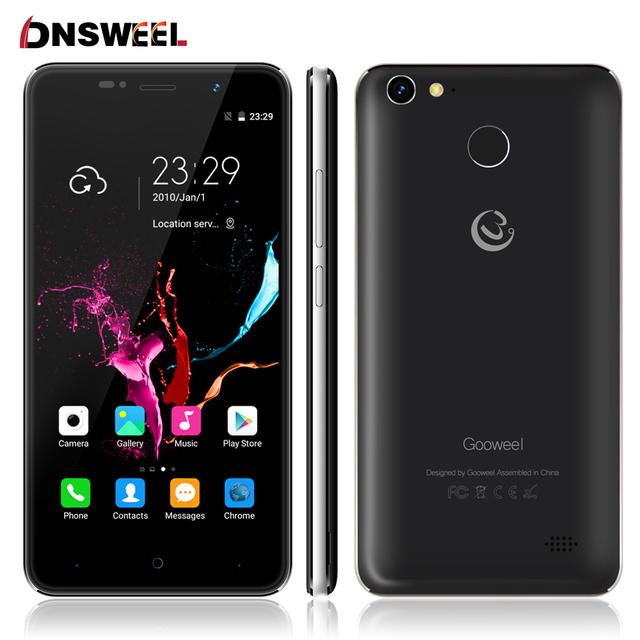 Original Gooweel M15 4G Smartphone Fingerprint MTK6737 Quad core 64bit 5.0 inch IPS Android 6.0 mobile phone 2GB 16GB Cell phone