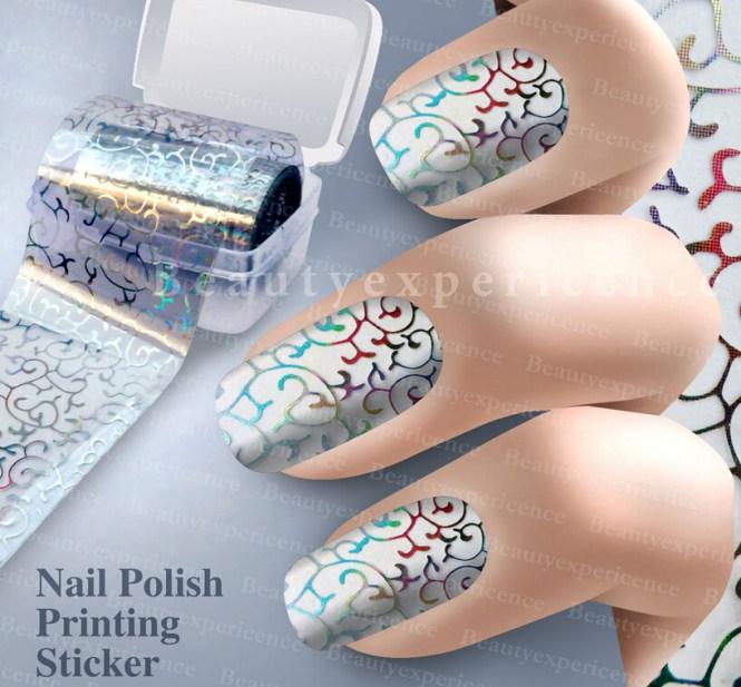 Nail Art Foil Con Gel Nails Polish Colour Effects