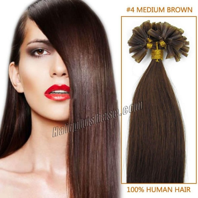 Get Ations 100 Strands 20 Inch Pre Bonded Remy Nail Tip Hair Extensions Jet Black Colour