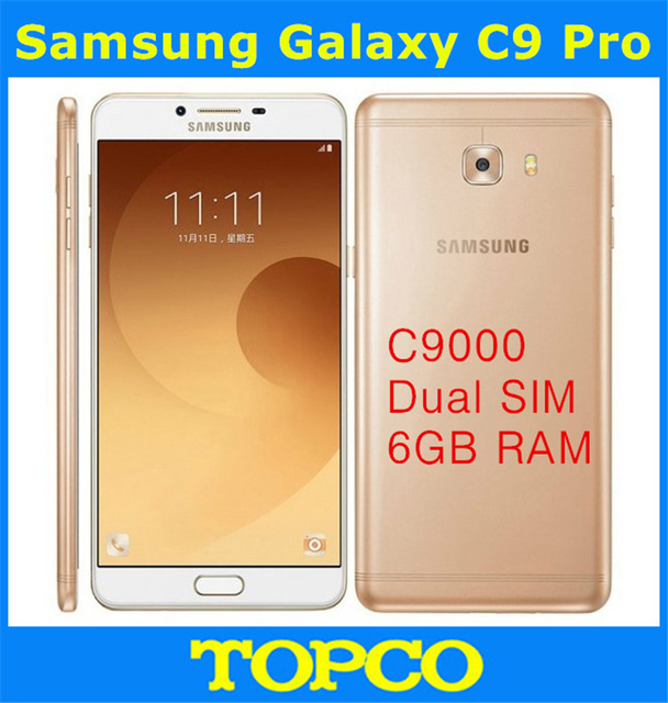 "Samsung Galaxy C9 Pro Original Unlocked 4G LTE Octa Core Android Dual Sim Mobile Phone C9000 6.0"" 16MP RAM 6GB ROM 64GB"