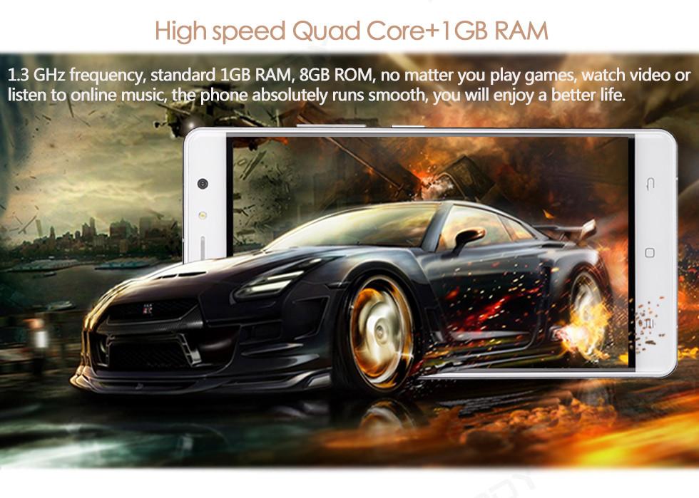 XGODY חכם, טביעת אצבע 8GB ROM 1G RAM Quad Core D21 5.5 אינץ אנדרואיד 6.0 טלפון סלולרי נייד טלפון חכם זול