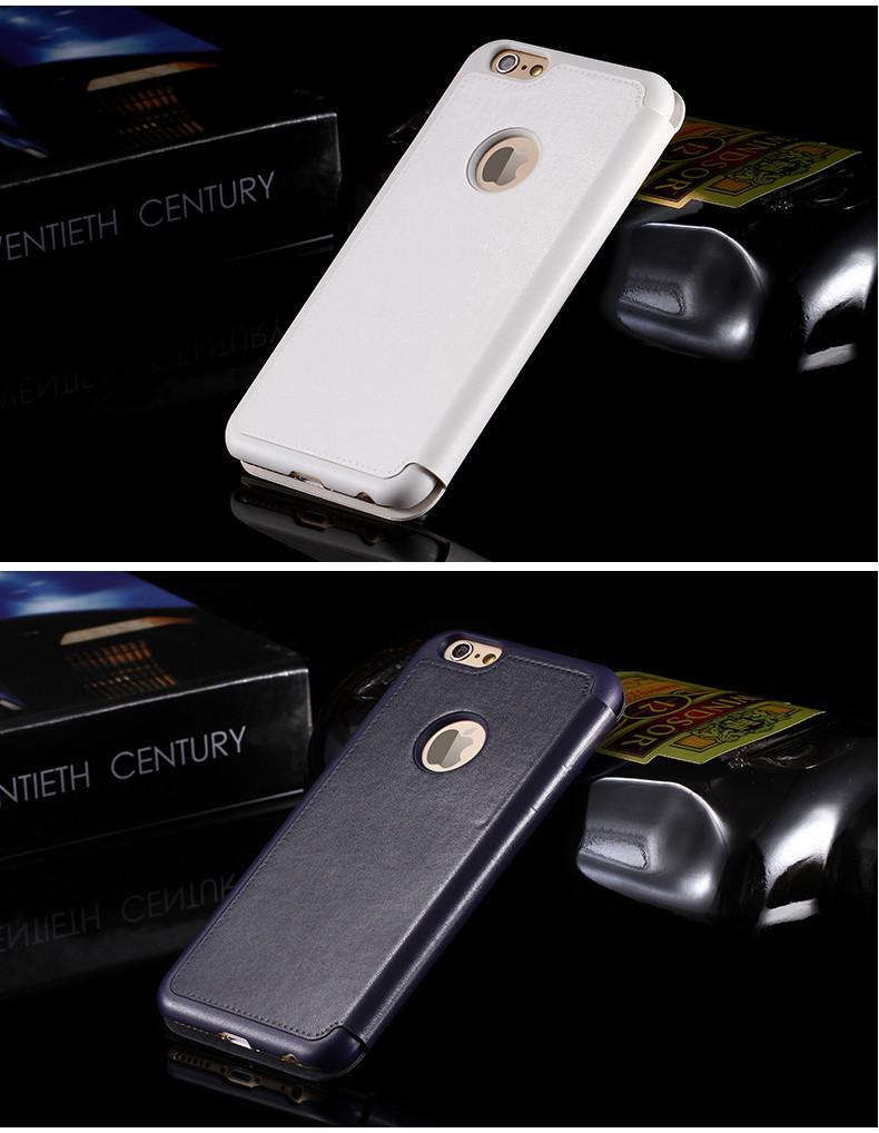יוקרה חכם חכם חלון תצוגה Case Flip עור עבור iphone 6 4.7 לכסות את שקיות דלוקס התשובה הטלפון מבלי לפתוח R04482