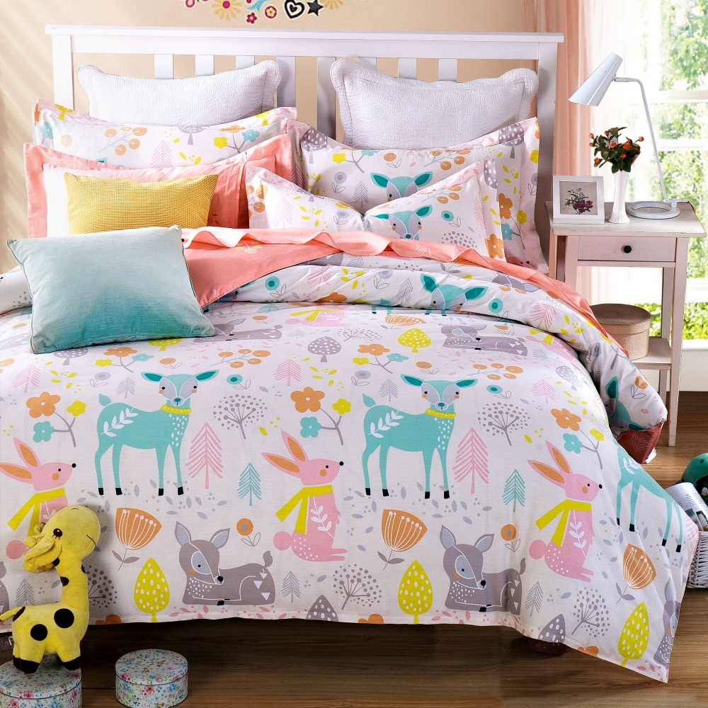 Animal Forest Girls Bedspreads