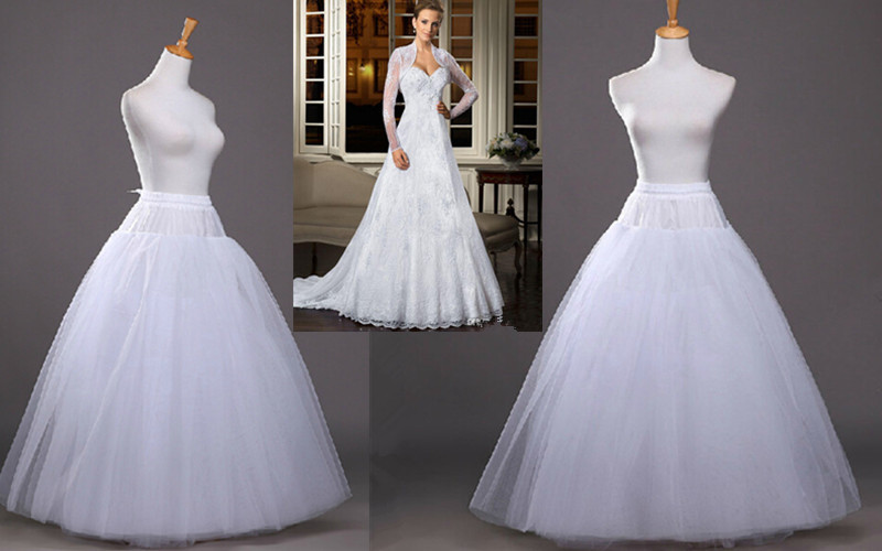 2016 Fashion No Hoops Ball Gown Wedding Petticoats 6 Layer