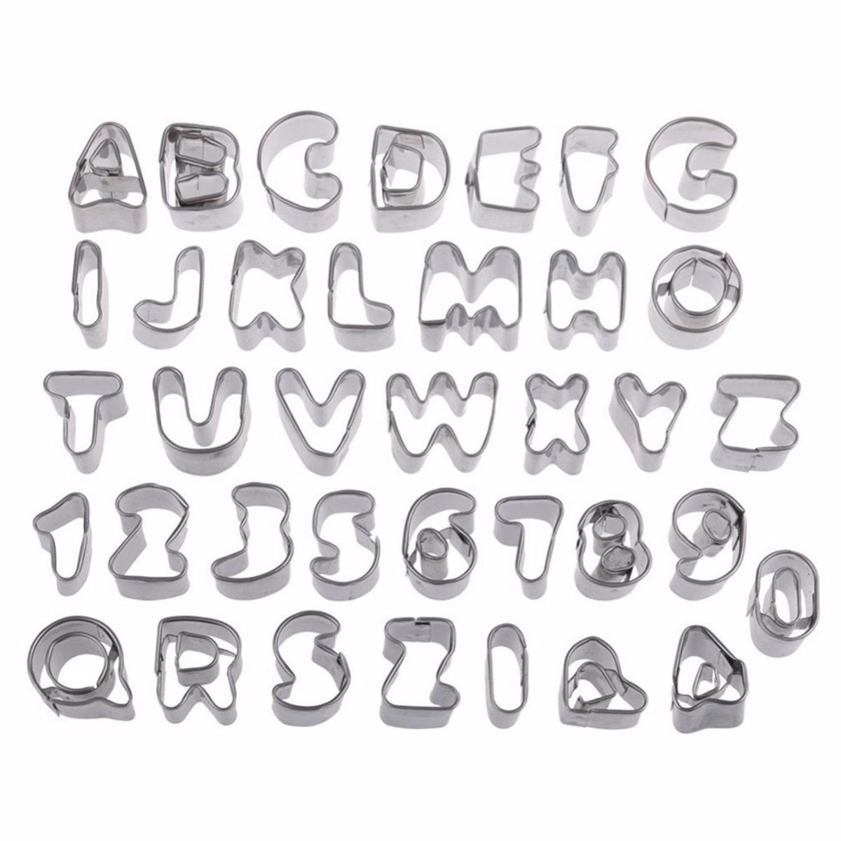 37 Piece Biscuit Cake Kitchen Stainless Steel Silver Set