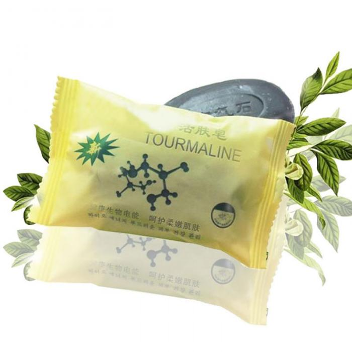 Tourmaline Soap Personal Care Soap Face & Body Beauty Healthy Care whitening anti-bacterial anti-inflammatory exfoliating