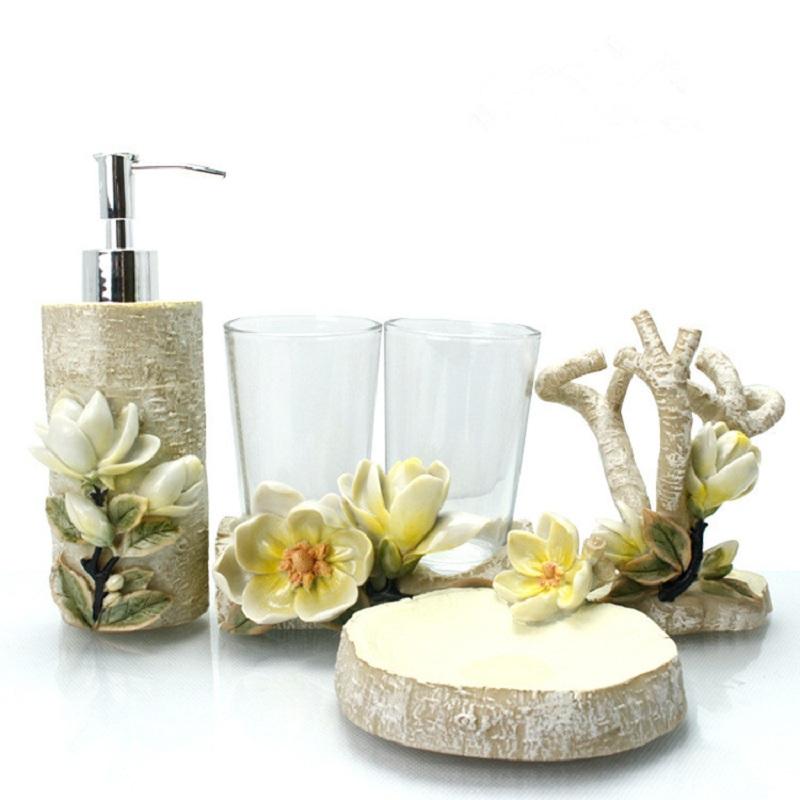 Floral Bath Accessories