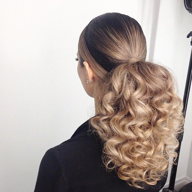 Beautiful Human Hair Ponytail Extensions Clip In High