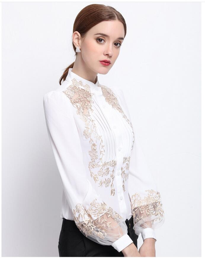 HTB1x.vAOVXXXXaOXFXXq6xXFXXX0 - 2017 Spring Women Elegant Hollow Princess Long Sleeve Brand Silk Blouse Shirts white/black embroidery Shirts Tops Female Blusas