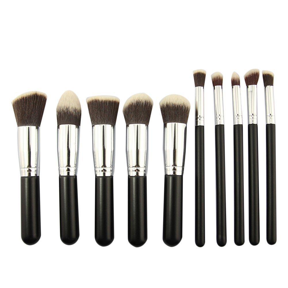 Hemore sombra de ojos accesorios 5 brochas de maquillaje con mango de madera brochas de maquillaje brocha para maquillaje