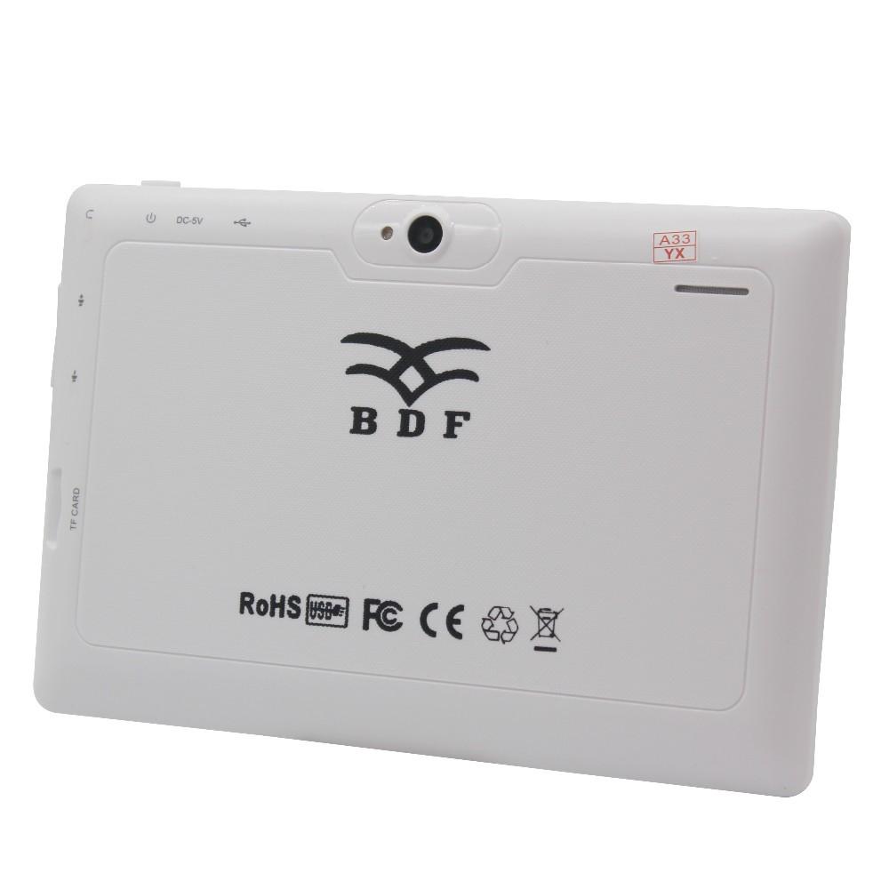 אנדרואיד מחשב לוח 7 אינץ Google A33 Quad-Core 1G-16GB Bluetooth WiFi FlashTablet מחשב יש תיק עור 1GB 16GB ורוד טבליות