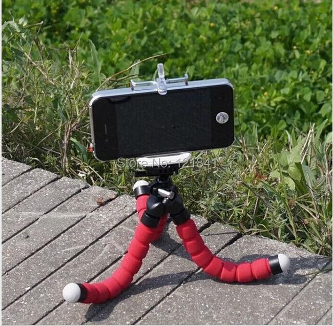 3 ב אחד מיני גמיש תמנון חצובה + מחזיק טלפון סוגר מחזיקי לעמוד על Gopro Hero 3 3+ SJ4000 5000 עבור iPhone נייד