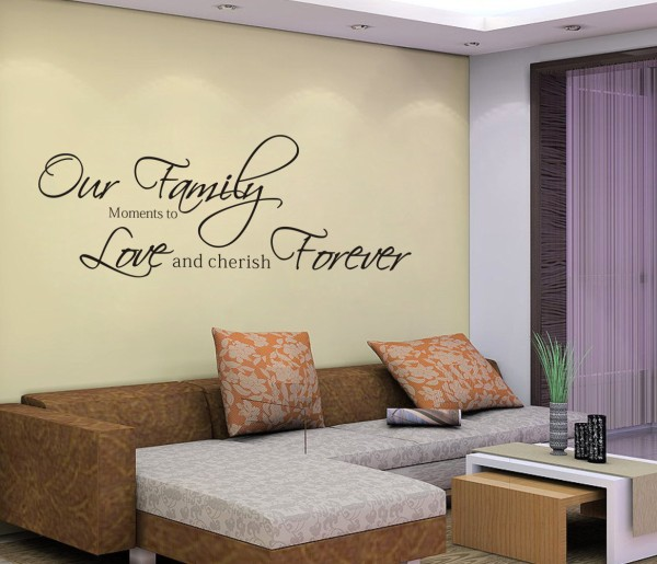 wall sticker text yourself