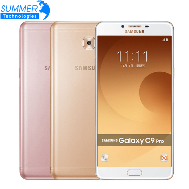 Original Samsung Galaxy C9 Pro C9000 Mobile Phone Octa core Dual SIM 6'' 6GB RAM 64GB ROM 16MP Android 6.0 Smartphone