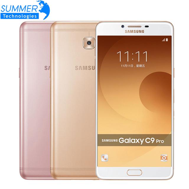 Original Samsung Galaxy C9 Pro C9000 Mobile Phone Octa core Dual SIM 6'' 6GB RAM 64GB ROM 16MP Android 6.0 Smartphone