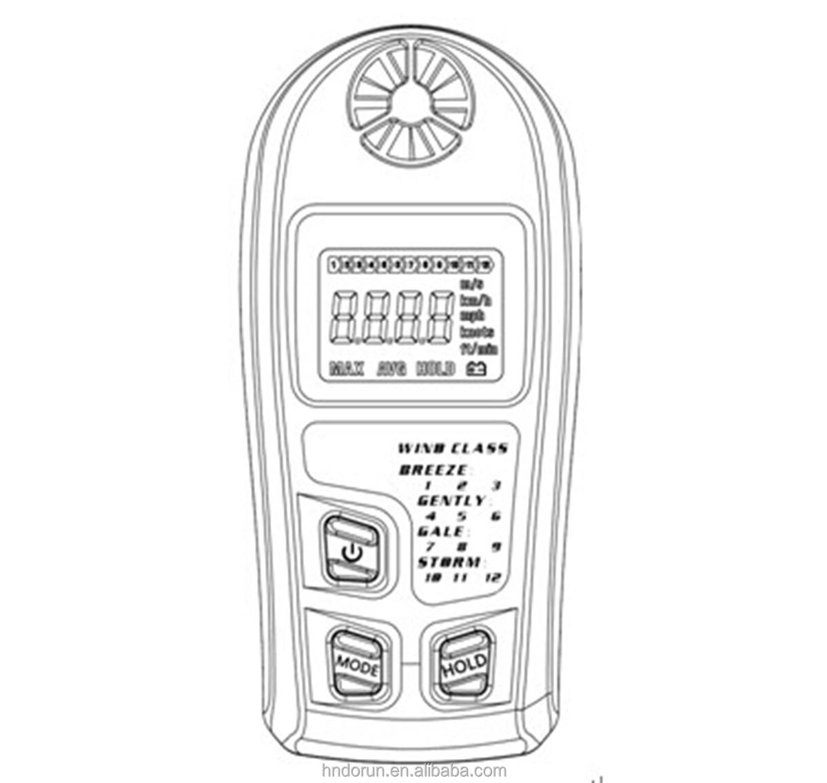 Portable Digital Anemometer
