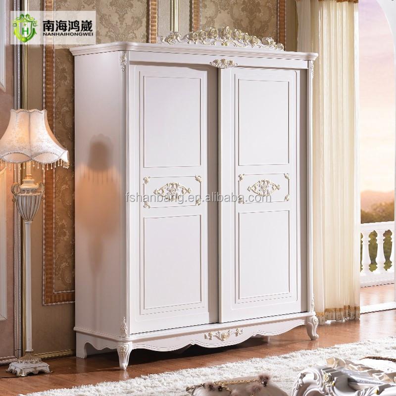 Blanc Antique Franais Porte Coulissante Armoire Chambre