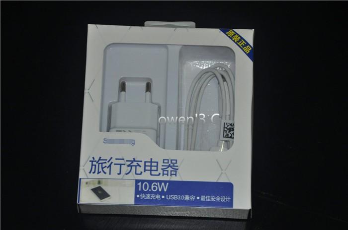 מקורי 5V 2A AC LED האיחוד האירופי תקע USB מטען קיר מתאם + אור LED כבל מיקרו USB עבור Samsung Galaxy S4 S5 S6 Note3 הערה 4