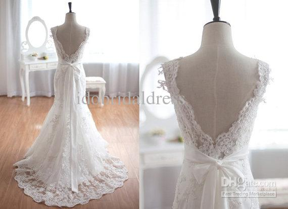 2015 Vintage Inspired Tulle Lace Wedding Dress Taffeta
