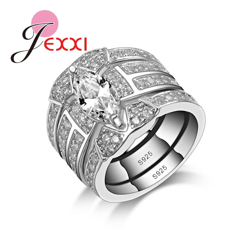 Popular 3 Piece Wedding Ring Sets Buy Cheap 3 Piece