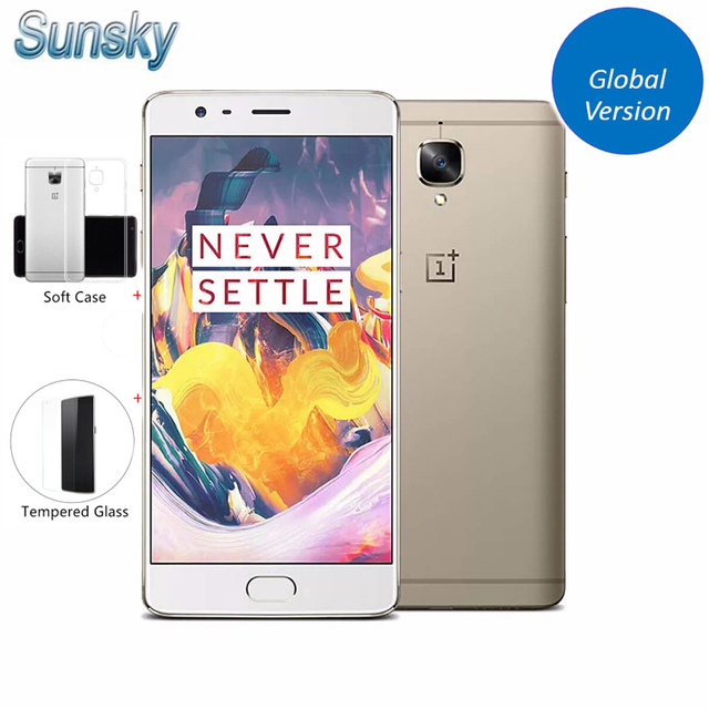 """Original OnePlus 3T A3003 1920*1080p 5.5"""" Snapdragon 821 Quad Core Smartphone 6GB RAM 64GB ROM Touch ID 16.0MP NFC Mobile Phone"""