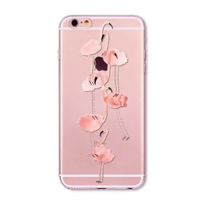 המקרים טלפון עבור iphone 7 7 בתוספת 6 6 5 5 סה 5C 6PLUS 4 4S החדש אופנה רך צבעוני פלמינגו טלפון סיליקון המקרים Fundas קאפה