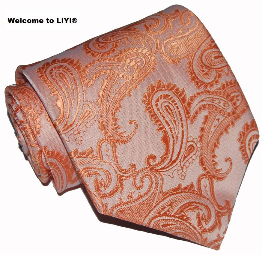 Popular Orange Paisley Ties Buy Cheap Orange Paisley Ties