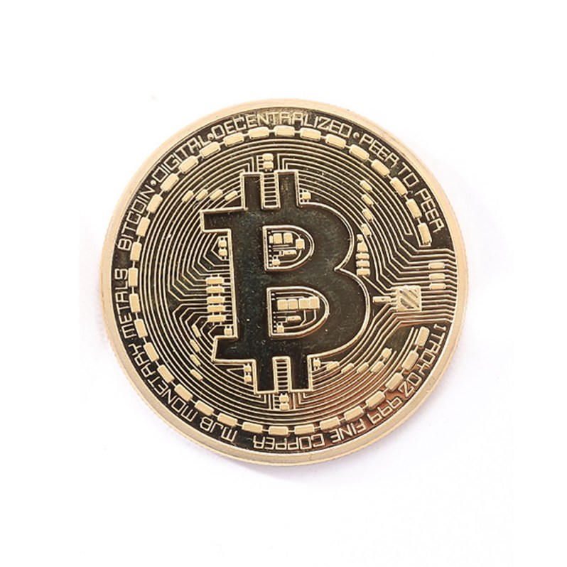 Two Colors Bronze Physical Bitcoins Coin For Souvenir Collectibles Coin Art Collection Gift Decoration Navidad Christmas Gift