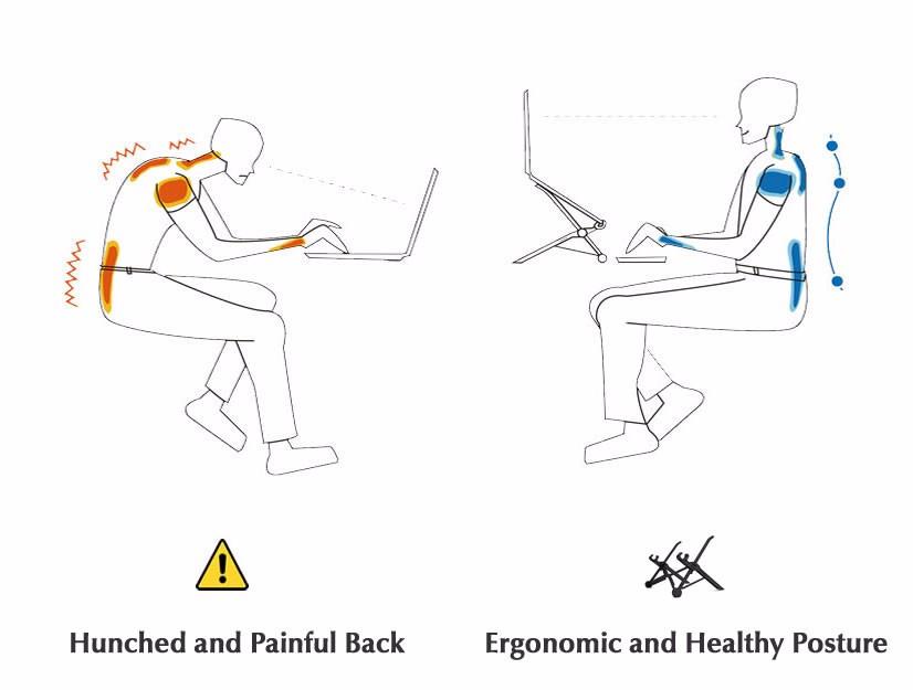 מתקפל Nexstand המחשב להצבה על הברכיים שולחן מחשב עמוד תמיכה 11.6 אינץ ' או גדול יותר גודל הגנה של חוליית הצוואר משופרת ניילון