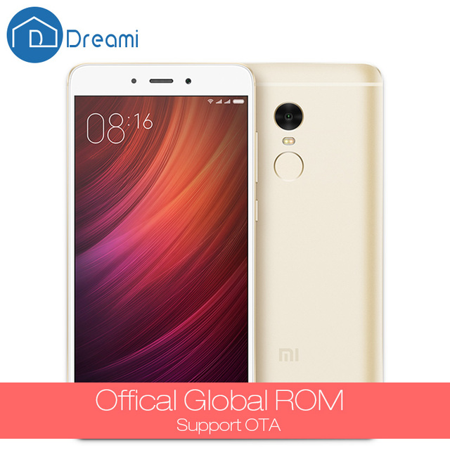 Dreami New Original Xiaomi Redmi Note 4 Prime 64GB ROM 3GB RAM Cellphone MTK Helio X20 Deca Core 13MP Note4
