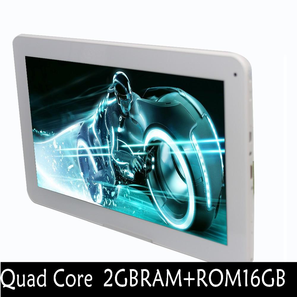 10 אינץ ' WiFi, GPS, FM, Bluetooth 2G+16G טבליות מחשב מובנה 3G טלפון אנדרואיד Quad Core Tablet pc אנדרואיד 4.4 2GB זיכרון RAM 16GB ROM