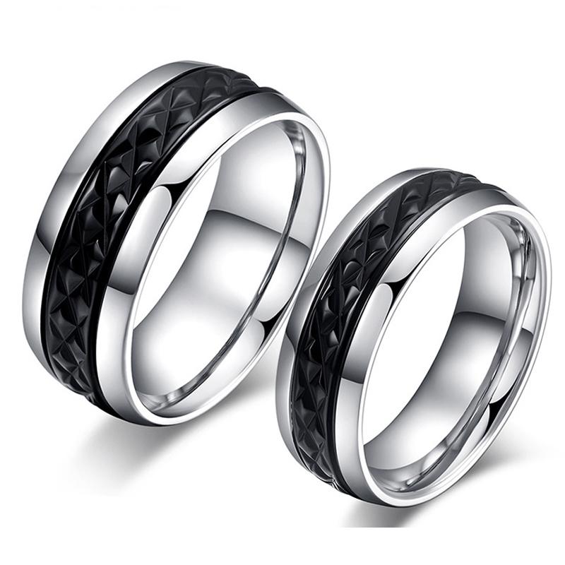 Popular Matching Black Titanium Wedding Bands Buy Cheap