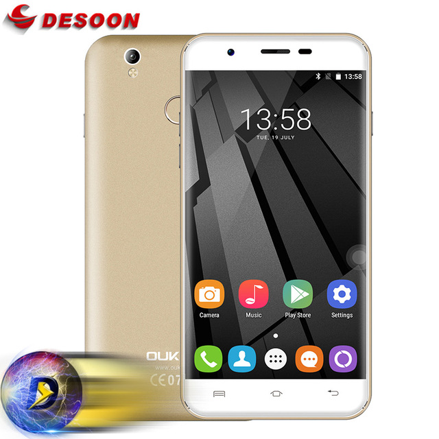 "Original Oukitel U7 MAX Mobile Phone Android 6.0 4G LTE MTK6580A Quad Core 5.5"" HD 2GB+16GB 8MP 3G WCDMA Cell Phone"