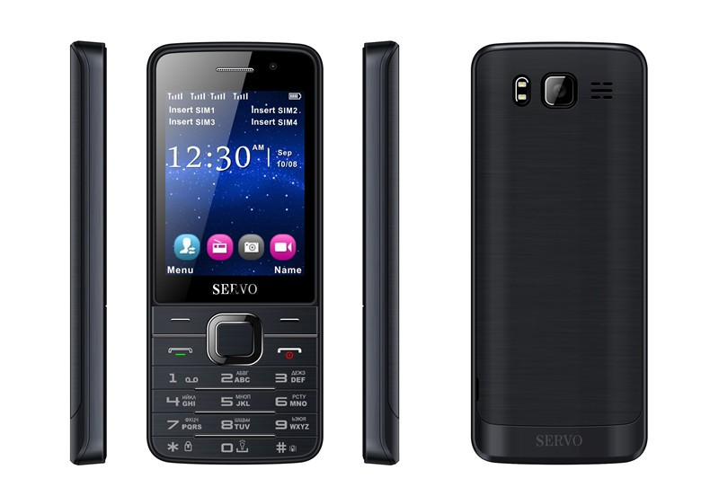 ארבע ליבות כרטיסי ה SIM-2.8 אינץ ' באיכות HD, מסך גדול 4 כרטיסי ה-SIM 4 ההמתנה, טלפון עם מצלמה כפולה GPRS Bluetooth רטט MP4 מקלדת רוסית