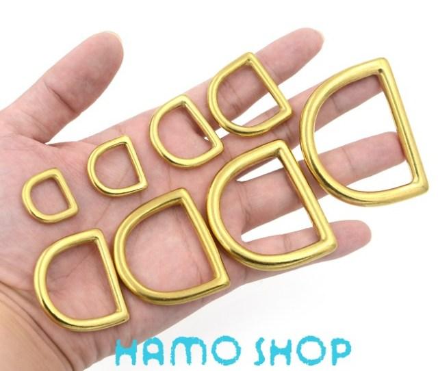 Pcs Mm Metal D Rings Buckle Seamless Brass Hook Loop Strap Webbing Shackle Backpack Us