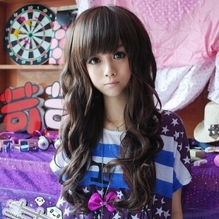Perruque Rushed Hairstyle Anime Cosplay Synthetic Lace
