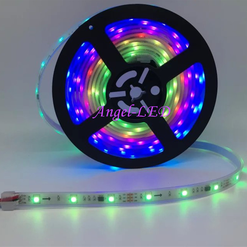 5m-roll-DC12V-ws2811ic-SMD5050-RGB-led-strip-dream-individually-addressable-Digital-30leds-m-external-ic