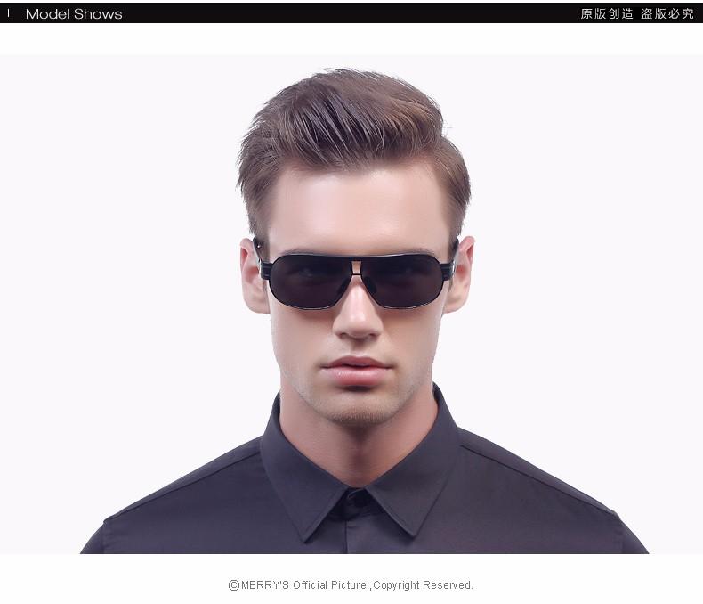 MERRY'S Men Classic Brand Sunglasses Luxury Aluminum Polarized Sunglasses EMI Defending Coating Lens Male Driving Shades S'8506