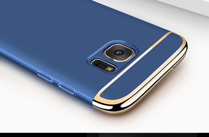 For Samsung S7 Case, TOPK Original Luxury Plating Anti-Knock PC Hard Phone Protective For Samsung Galaxy S7 edge Case