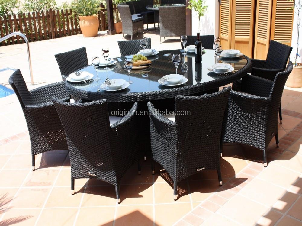 8 Places Pratique Balcon Toit Restaurant Ovale Rotin Table