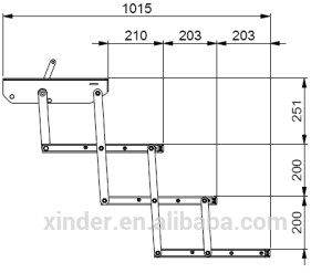Esftm Series Vehicle Ladder Aluminum Folding Bus Manual