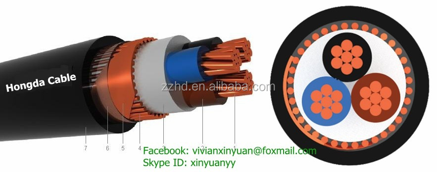 Yvcv / Nycy 0.6/1 Kv Pvc Insulated Concentric Conductor