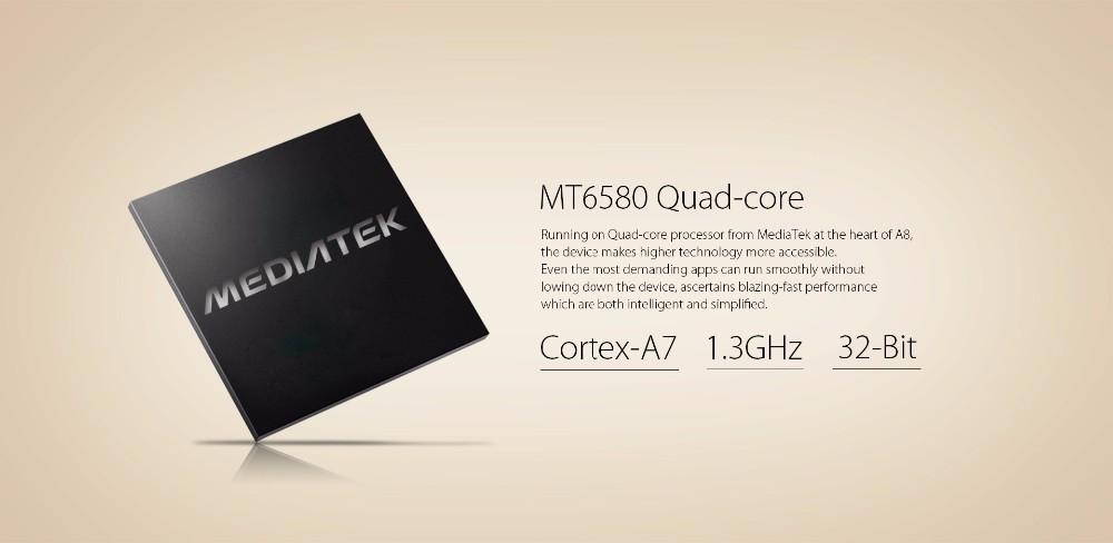 חינם התיק-מתנה Blackview A8 smartphone 5.0 אינץ ' 1280x720 HD IPS Quad Core אנדרואיד 5.1 טלפון סלולרי נייד 1GB RAM 8GB ROM 3G 8MP