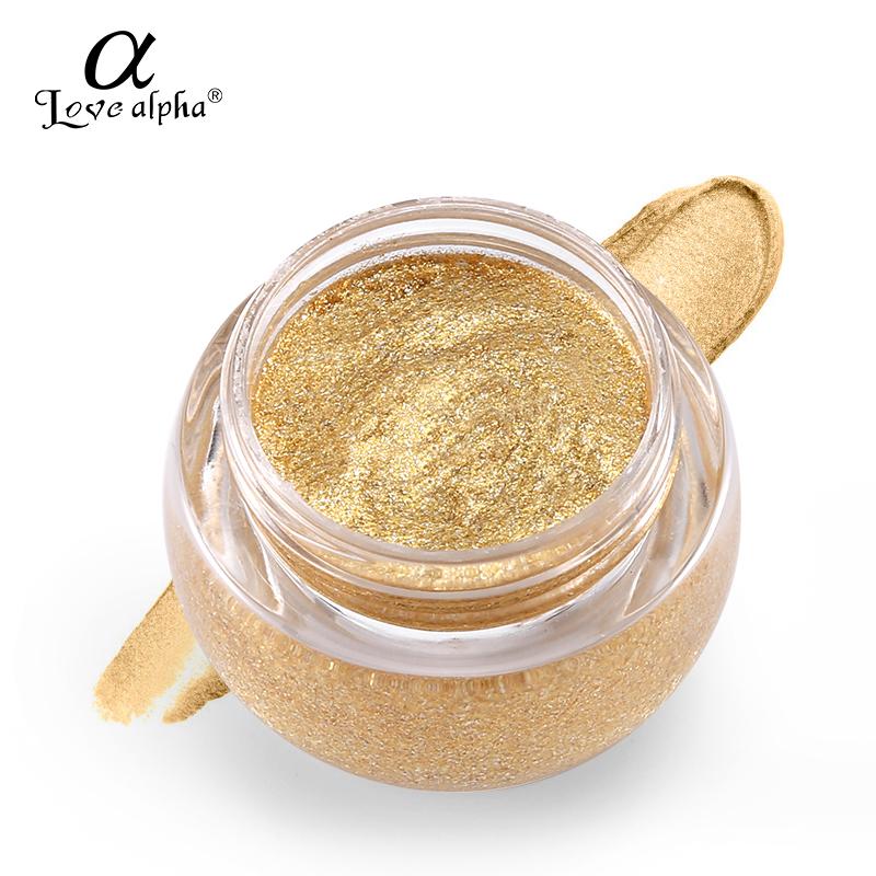 5  LOVE ALPHA 3D Glitter Eyeshaow Gel Metallic Powder Pigment Make-up 5 Choice Fragrance Cream Highlighter Shining Maquiagem Palette HTB1A3FsRXXXXXXPapXXq6xXFXXX0