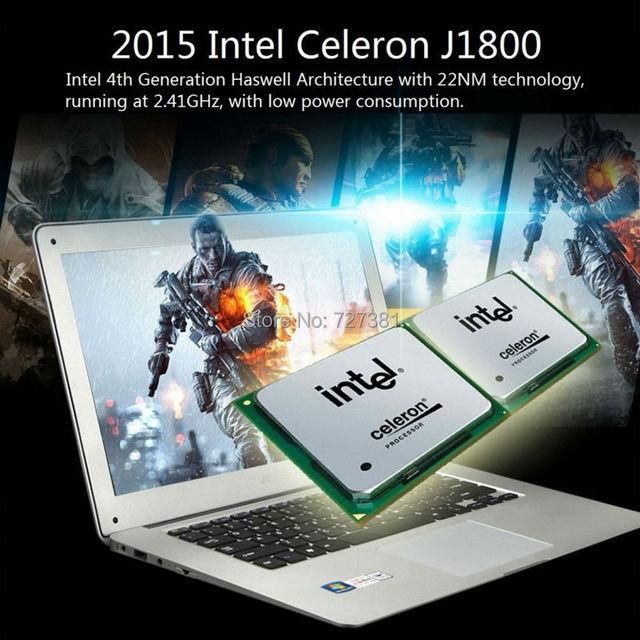 14 дюймов Ультра 8 ГБ RAM 1000 ГБ Windows 10/7 Тонкий Портативный Компьютер ПРОЦЕССОР Intel Celeron Ноутбук HDD Azerty Русский испанский Клавиатура