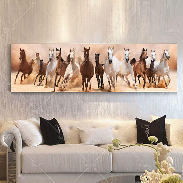 Wall Art Canvas Oil Painting Beautiful Landscape Horse