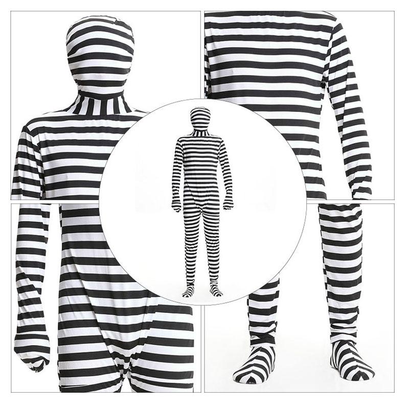 Black And White Prison Jumpsuit